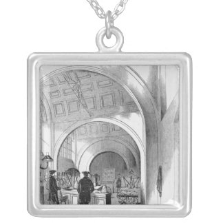Bullion Office - Receiving Office Silver Plated Necklace