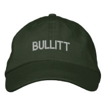 bullitt in green embroidered baseball cap
