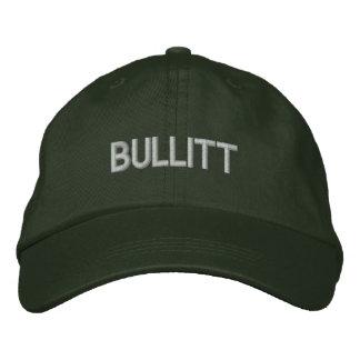 bullitt in green embroidered baseball cap