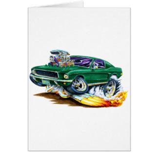Bullitt Mustang with Big Engine Greeting Card