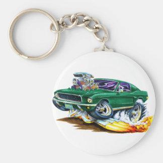 Bullitt Mustang with Big Engine Basic Round Button Keychain