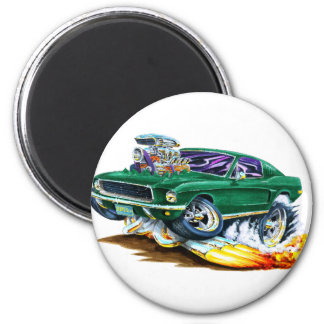 Bullitt Mustang with Big Engine 2 Inch Round Magnet