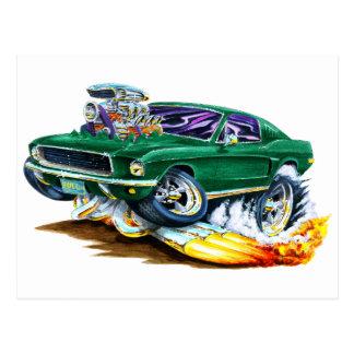 Bullitt Mustang with Big Engine Postcard