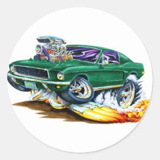 Bullitt Mustang with Big Engine Classic Round Sticker