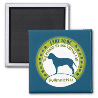 Bullmastiff 2 Inch Square Magnet
