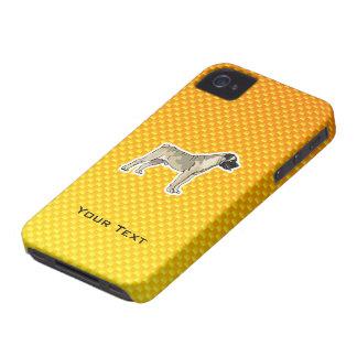 Bullmastiff amarillo-naranja carcasa para iPhone 4