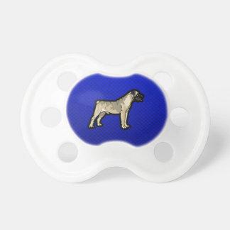 Bullmastiff; Blue Baby Pacifiers