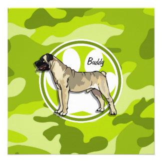 Bullmastiff bright green camo camouflage custom announcement