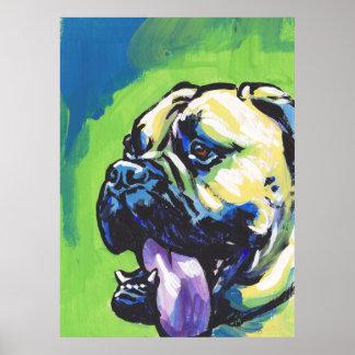 Bullmastiff Bright Pop Art Poster Print