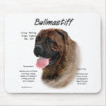 Bullmastiff (brindle) History Design Mouse Pads