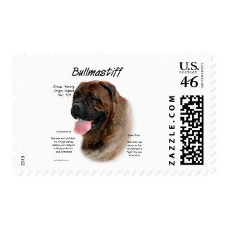 Bullmastiff brindle History Design Postage Stamp