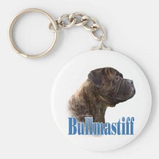 Bullmastiff (brindle) Name Keychain