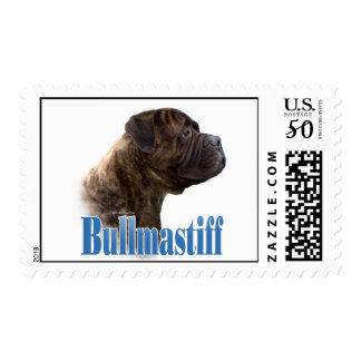 Bullmastiff (brindle) Name Postage