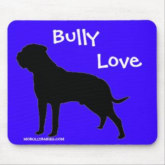 Bullmastiff Bully Love MousePad Blue