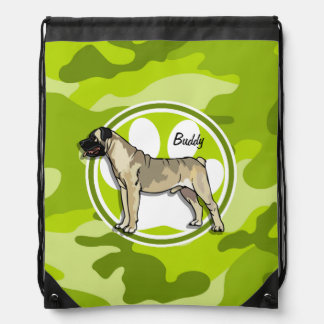 Bullmastiff; camo verde claro, camuflaje mochila