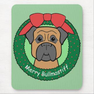 Bullmastiff Christmas Mouse Mat