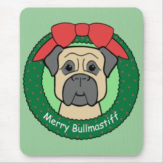 Bullmastiff Christmas Mouse Mats