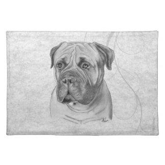 Bullmastiff Cloth Place Mat