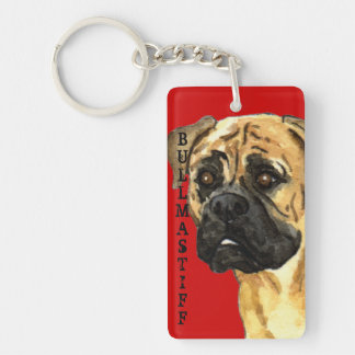 Bullmastiff Color Block Keychain