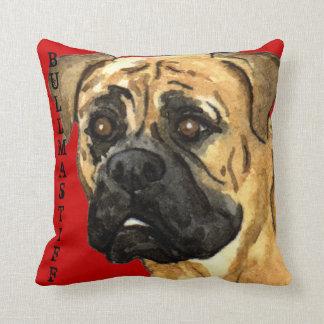 Bullmastiff Color Block Throw Pillow