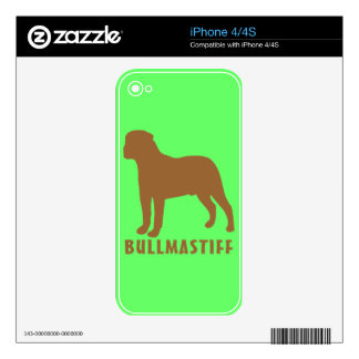 Bullmastiff Decals For The iPhone 4S