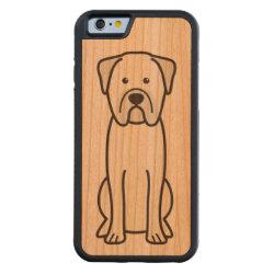 Carved ® iPhone 6 Bumper Wood Case with Bullmastiff Phone Cases design