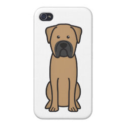 Case Savvy iPhone 4 Matte Finish Case with Bullmastiff Phone Cases design