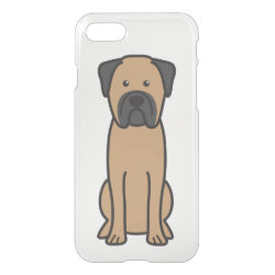 Uncommon iPhone 7 Clearly™ Deflector Case with Bullmastiff Phone Cases design