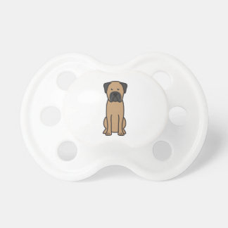 Bullmastiff Dog Cartoon Baby Pacifiers