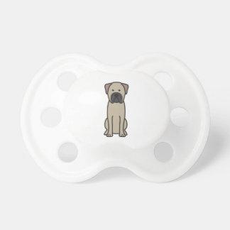 Bullmastiff Dog Cartoon Baby Pacifier