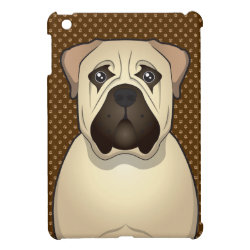 Case Savvy iPad Mini Glossy Finish Case with Bullmastiff Phone Cases design