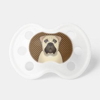 Bullmastiff Dog Cartoon Paws Baby Pacifiers