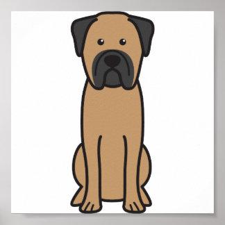 Bullmastiff Dog Cartoon Posters