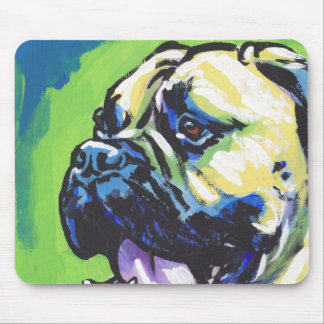 Bullmastiff Dog fun bright pop art Mouse Pad