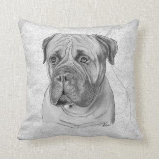 Bullmastiff Drawing Throw Pillow