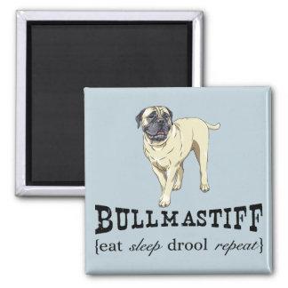 """Bullmastiff """"eat sleep drool repeat"""" Magnet"""