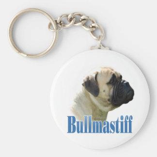 Bullmastiff (fawn) Name Keychain