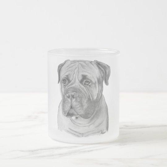 Bullmastiff Frosted Glass Coffee Mug