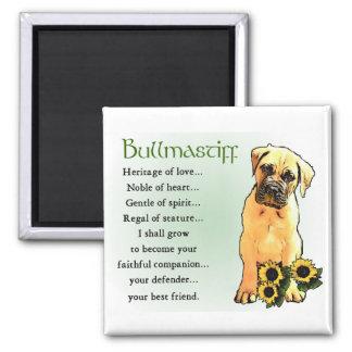 Bullmastiff Gifts 2 Inch Square Magnet