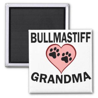 Bullmastiff Grandma 2 Inch Square Magnet
