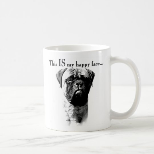 Bullmastiff Happy Face Coffee Mug