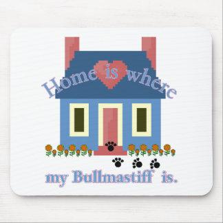 Bullmastiff Home Is Mousepad
