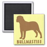 Bullmastiff Imán Cuadrado