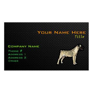 Bullmastiff liso plantilla de tarjeta personal