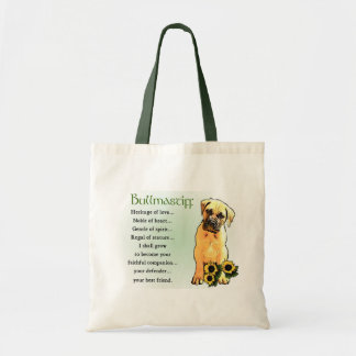 Bullmastiff Lovers Gifts Canvas Bags