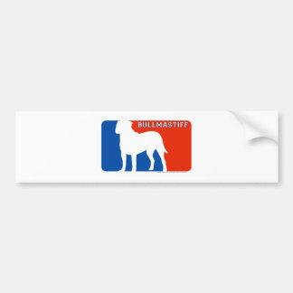 Bullmastiff Major League Dog Bumper Sticker Car Bumper Sticker