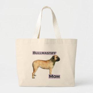Bullmastiff Mom 4 Large Tote Bag