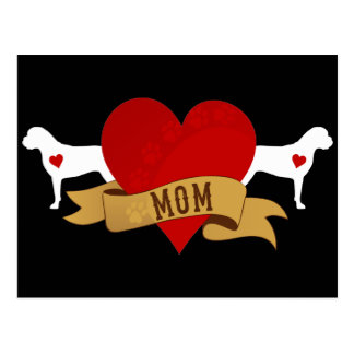 Bullmastiff Mom [Tattoo style] Postcard