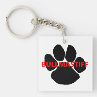 bullmastiff name paw.png square acrylic keychains