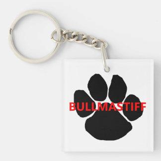 bullmastiff name paw.png keychain